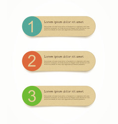Recycled paper round labels set vector