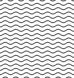 Seamless wavy line pattern vector