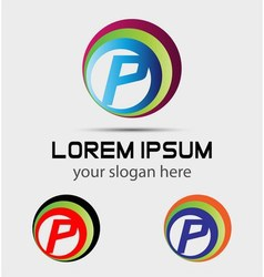 Sign letter P Letter P logo vector