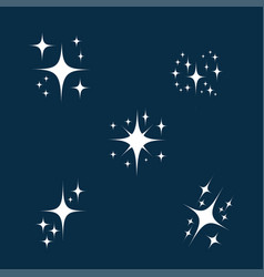 sparkle icon set glowing or brilliant particle of vector image