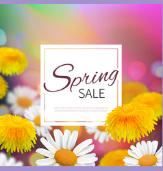 stock spring sale realistic vector image