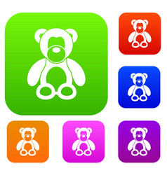 teddy bear set collection vector image