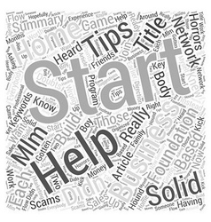 Tips on starting a home business Word Cloud vector
