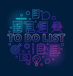 to do list colored made with vector image