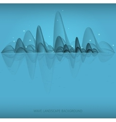 wave landscape background vector image