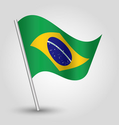 Waving simple triangle brazilian flag vector
