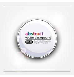 White web button vector