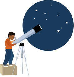 young astronomer vector image