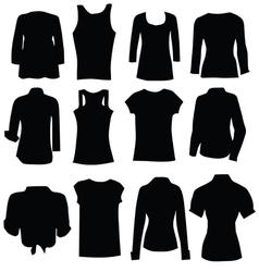 clothing for women black art silhouette vector image