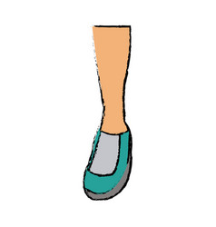 feet sneaker sport shoe design icon vector image