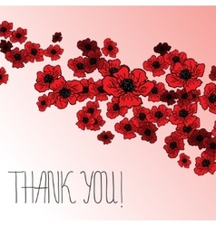 Floral background with poppies and hand lettering vector image vector image