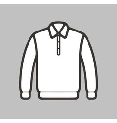 Polo jumper icon vector image