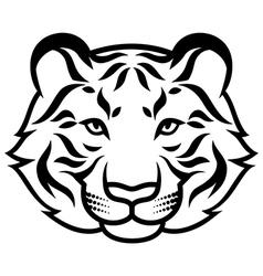 tiger calm black vector image vector image