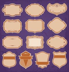 Vintage Frame Labels Set vector image