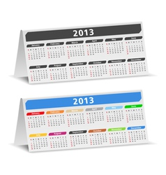 2013 desk calendars vector image