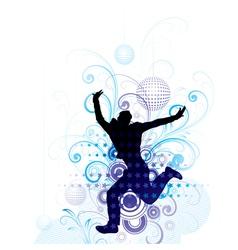 artistic man jumping poster vector image vector image