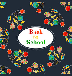 back to school background with place for text vector image vector image