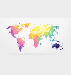 world map low poly vector image vector image