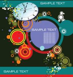 grunge background with clock image vector image