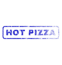 hot pizza rubber stamp vector image vector image