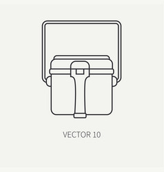 line flat hunt and camping icon - kettle vector image vector image