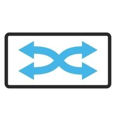 Shuffle Arrows Horizontal Framed Icon vector image
