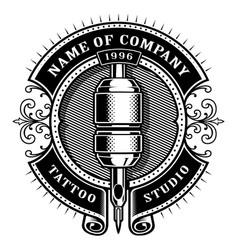 vintage tattoo studio emblem 1 for white vector image