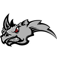 angry rhino head tattoo vector image