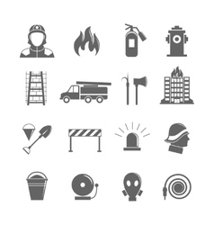 Firefighting icons set vector image vector image