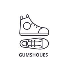 gumshoes line icon outline sign linear symbol vector image vector image