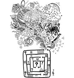 Sketchy doodle confused maze vector image vector image