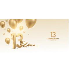 13th anniversary celebration background vector