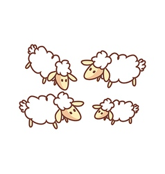 A flock of sheep vector