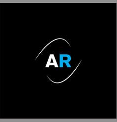 A r letter logo creative design on black color vector