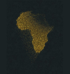 Africa continent map gold glitter luxury concept vector