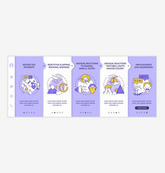 Autism diagnosis onboarding template vector