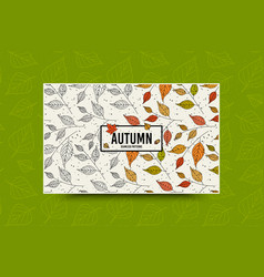 autumn leaf pattern fall leaves seamless pattern vector image