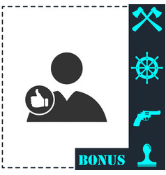 avatar like icon flat vector image