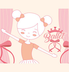 beautiful ballerina ballet character smiling vector image