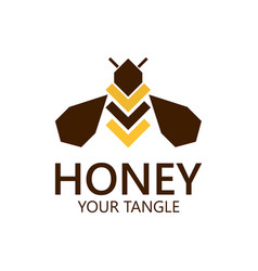 bee label for honey logo products vector image