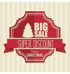 Big sale super discount merry christmas banner vector