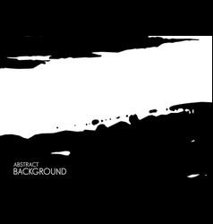 Black brush stroke on white background vector