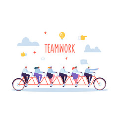 Business team work and cooperation concept vector