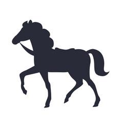 Cartoon horse isolated white vector
