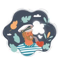 closeup portrait sailor vector image