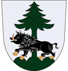 Coat of arms of ebersberg in upper bavaria germany vector