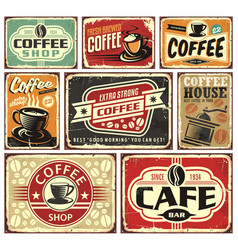 Coffee signs and labels collection vector