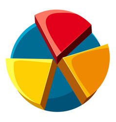 Colorful pie chart icon cartoon style vector