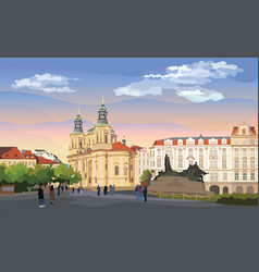 Colorful prague vector
