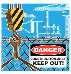construction area worning vector image